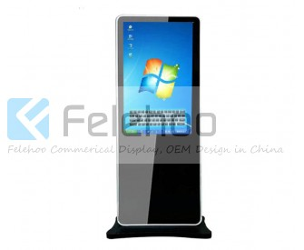 42 Inch Interactive 6points touchscreen kiosk All In One PC floor stand