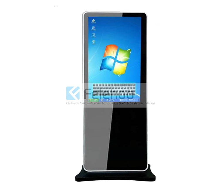 42 Inch Interactive Touch Screen Standing Kiosk