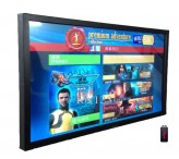 Horizontal digital signage 84 inch commercial display monitors