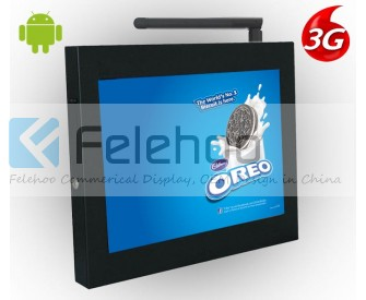 15inch digital display board commercial monitors video signage