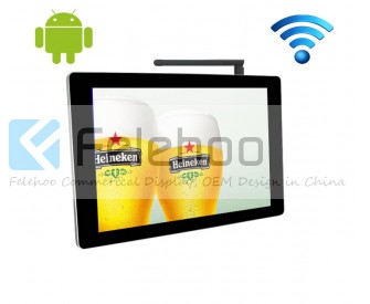 Advertising screen wifi 22 inch html digital signage system