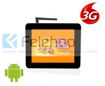 lcd network screen 3g/4g 12.1inch digital billboard advertising