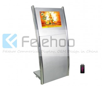 22inch free standing lcd advertising screen custom design