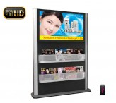 42inch floor standing lcd totem with shelves custom design