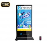 Floor Standing Kiosk indoor advertising 75inch 4K large screen displays