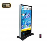 lcd kiosk indoor advertising display 72inch screen