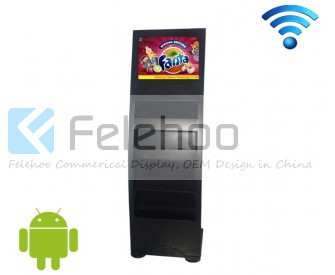 19 inch android digital signage player with wifi wireless shelf pop