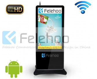 55 inch free standing lcd advertising display with wifi connection
