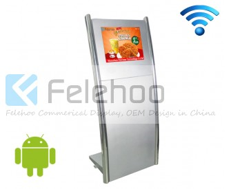 15 INCH signage kiosk with wifi connection