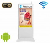 50 inch wifi advertising display floor free standing