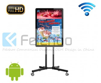 40 inch wifi cardboard advertising display stands
