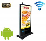 65 inch wifi floor standing lcd advertising player