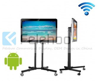 32 inch wifi retail shelf point display for advertising