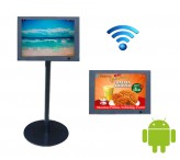 WIFI floor standing kiosk 10.4inch lcd screen display