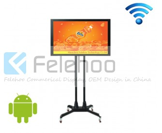wifi standing digital signage screen 32inch lcd display