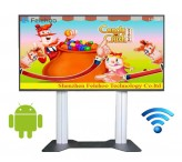 75inch Lobby Trade Show wifi Monitor Stand lcd kiosk