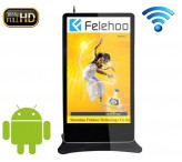 82 inch kiosk wifi advertising player