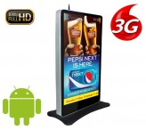 84 inch standing 3g/4g wireless network digital advertisment signage for mall