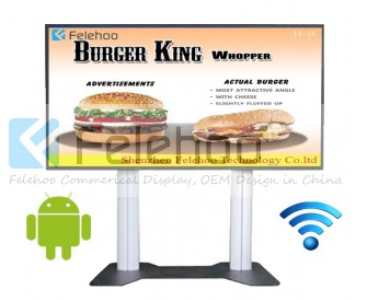 70 inch WIFI Kiosk advertising video player
