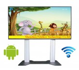 82 inch wifi kiosk big tv advertising screen