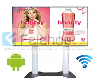 84 inch wifi kiosk large advertising lcd screens