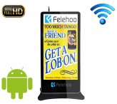 75 inch wifi network Android floor standing lcd advertising player