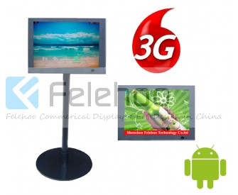 10.4 inch 3g 4g network advertising kiosk media player stand alone