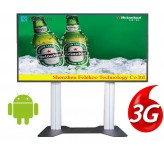 3g/4g network kiosk restaurant lcd advertising screen 70 inch