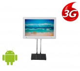 24 inch 3g 4g advertising kiosk lcd digital signage floor stand