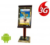 32 inch Floor standing 3g/4g digital signage screens electronic advertising boards