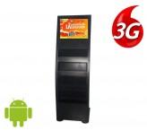 19 inch 3g 4g floor standing digital signage media player