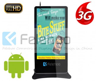 65 inch Floor standing 3g 4g network led display advertising totem
