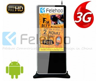 50 inch kiosk 3g/4g network digital signage advertising player