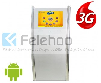 22 inch 3g 4g kiosk indoor advertising led display screen