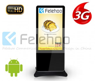 3g 4g indoor advertising display network kiosk 60 inch lcd for hotel