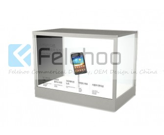 55 inch Transparent screen show case LCD Advertising Player