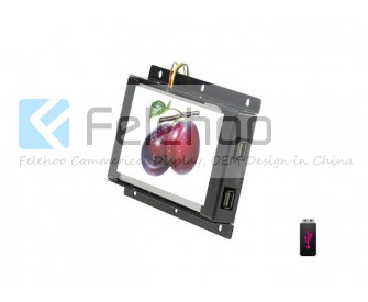 Open Frame lcd advertising monitor 10.1 inch with body sensor