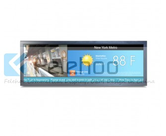 36 inch LCD Advertising display Long Bar irregular/Art display