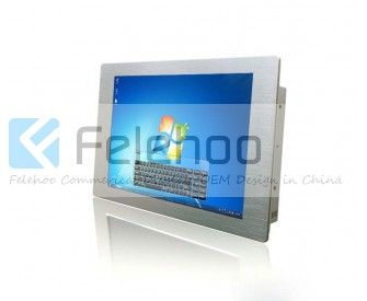 17 inch wall mounted IR touch screen built in PC