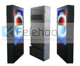 55 inch outdoor Totem lcd advertising player floor standing