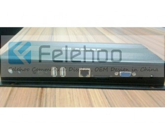 Digital signage player with Satellite receiver for Live TV