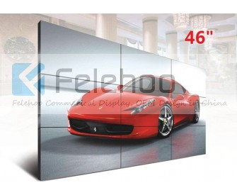 5.3mm ultra slim bezel 46 inch full HD 1080p Samsung 3x3 led video wall