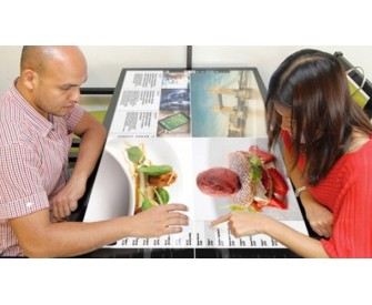 42inch Restaurant interactive table touch to order waterproof