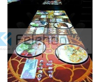 123inch Restaurant Bar Long Table for 6-8 people multi-touch