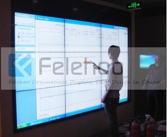 Multitouch screen video wall 3x3 of 46' lcd video wall 5 3mm