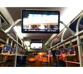 3G/4G wireless bus coach lcd media player display for 26 inch