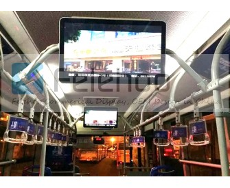 3G/4G wireless bus coach lcd media player display for 27 inch