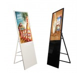 43inch floor standing portable fold-able digital poster lcd advertising player