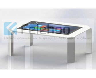 42 inch interactive touchscreen smart table for showroom reception hall
