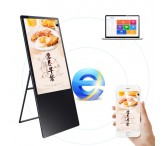 43inch Vertical Portable Digital Signage Folding Digital Menu Board